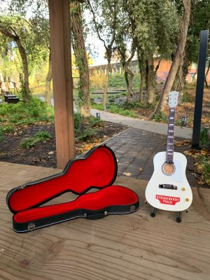 GUITAR WITH CASE & STAND Size: LARGE 24CM