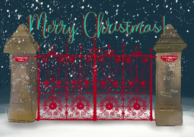 GATES MERRY CHRISTMAS CARD Size: A6 4 PAGE