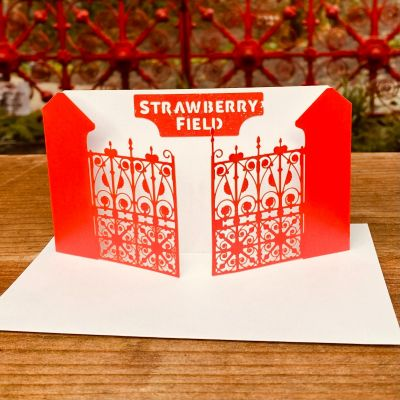 SF OPEN GATE GREETING CARD&ENV Colour: RED
