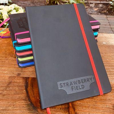 MEDIUM NOIR EDGE NOTEBOOK Colour: SF LOGO