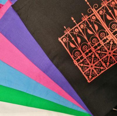 COLOURED COTTON TOTE BAG Colour: GATES DESIGN