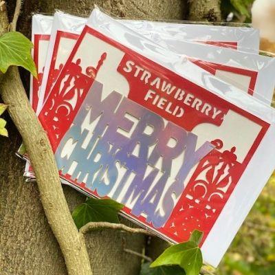 SF XMAS CARD OPEN GATE Colour: RAINBOW FOIL